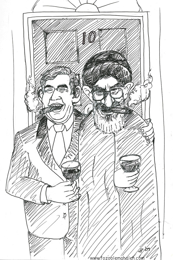 Gordon Brown with Khamenei outside 10 Downing Street  اتحاد نامقدس، میان بریتانیای جهانخوار و رژیم مرگبارتازی نژاد.