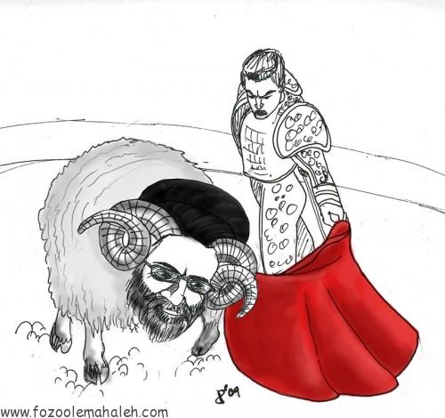 مجتبی خامنه ای مانند قوچ وحشی بیابانی، به لت و پارمردم بی گناه و بی دفاع می پردازد.