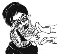 Khamenei getting kicked