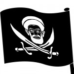 Khamenei's skull and cross bones on the new Iranian Flag