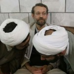 Larijani with some mullahs