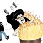 آتش چهارشنبه سوری سوزاننده ملایان تازی نژاد ضد ایرانی است