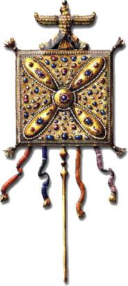 درفش کاویان در زمان ساسانیان که به دست تازیان افتاد
