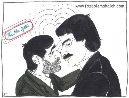 ملا علی رضاخان مزقانچی با انگلی نژاد در حال حال دادن و حال گرفتن