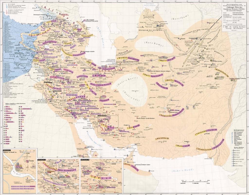 نقشه ایران بزرگ در دوران ساسانیان، یکی از چند کشورپیشرفته و متمدن جهان آن روز