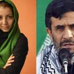 در این تصویر-  پادو ونوکر تازی نژاد، با دختر خانم دلاور و میهن پرست ایرانی