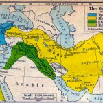سرزمین بزرگ ایران در دوران شاهنشاهی کوروش کبیر که به رنگ های زرد و سبز نشان داده شده است.