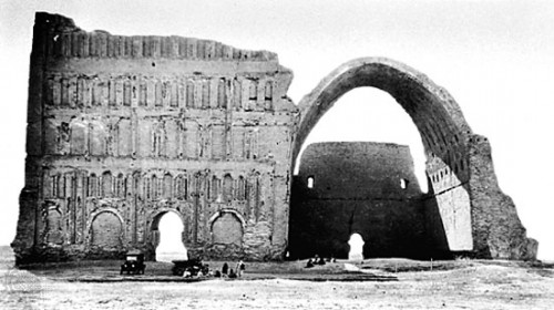ویرانی های کاخ سپید شاهنشاهی در شهر تیسفون یکی از بزرگترین شهرهای جهان ، شهری ساخته شده از هفت شهر بزرگ