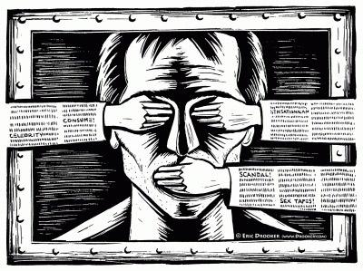 چشممان را می بندند که جایی نبینیم، دهانمان می بندند تا اعتراضی نکنیم، ولی جلو اندیشیدن ما را نمی توانند مسدود کنند.
