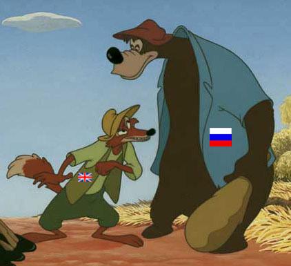 اتحاد میان روباه و خرس، باهمکاری میش های به پوشش گرگ درآمده، بازمانده سرزمین ما را پاره پاره کرده، و آن را به ویرانی کشاندند.