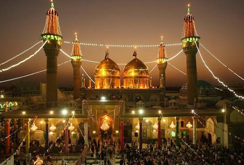 گنبد طلاهای دزدیده شده از ایران بر آرامگاه آمام موسی کاظم و امام جواد.