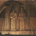 تندیس شاهپور ذوالاکتاف و پسرش شاهپور سوم