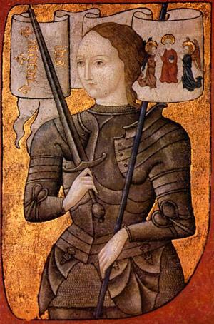 ژاندارک، کشاورز زاده ای  که توانست سپاه انگلیس را از شهرهای فرانسه بیرون راند، و موجب بازگشت و رسیدن شارل هفتم  به تاج و تخت فرانسه شد.