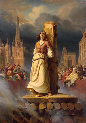 آخوندهای وابسته به انگلیس، این دختر دلاور و میهن پرست را محکوم به مرگ، و درمیان آتش سوزاندند.