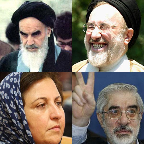 خمینی، خاتمی، موسوی، و شیرین عبادی که دانسته و یا ندانسته به  ایران خیانت کردند، و آن را به بیراهه کشاندند.