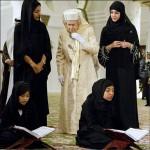 بازدید حاجیه الیزابت بیگم رهبر مسلمانان خاورمیانه از مسجد امارات