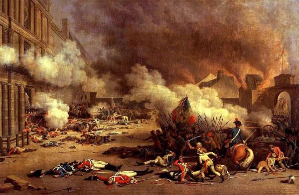 یورش به کاخ تو ئیلری در پاریس. اوت ۱۷۹۲