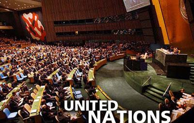 سازمان ملل که با تلاش کشورها ومردمان آزادی خواه در تاریخ ۲۴ اکتبر ۱۹۴۵ برپاشد تا از  دیکتاتوری رژیم های خودکامه جلوگیری نماید.