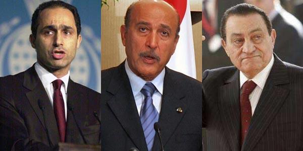 حسنی مبارک، عمر سلیمان، و جمال مبارک مثلث شوم، دیکتاتوری، و ضدمردمی مصر که  برنامه داشتند سالیانی دیگر به دیکتاتوری و غارت گری خود ادامه دهند.