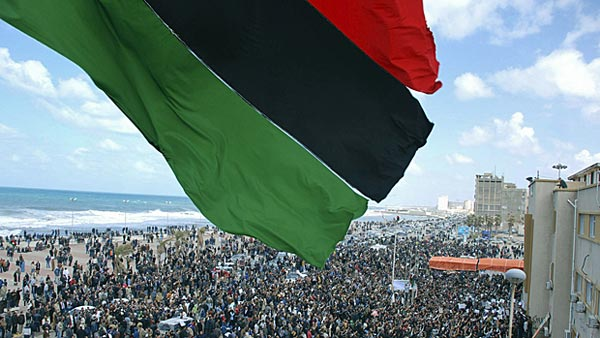 این قیام و انقلاب باشکوه مردم به پاخاسته و آزادی طلب لیبی است. امیدوارم، ما نیز بتوانیم همچنان دو سال گذشته، در برابر لشکر جهل و جنایت ولی وقیح صف آرایی کنیم.