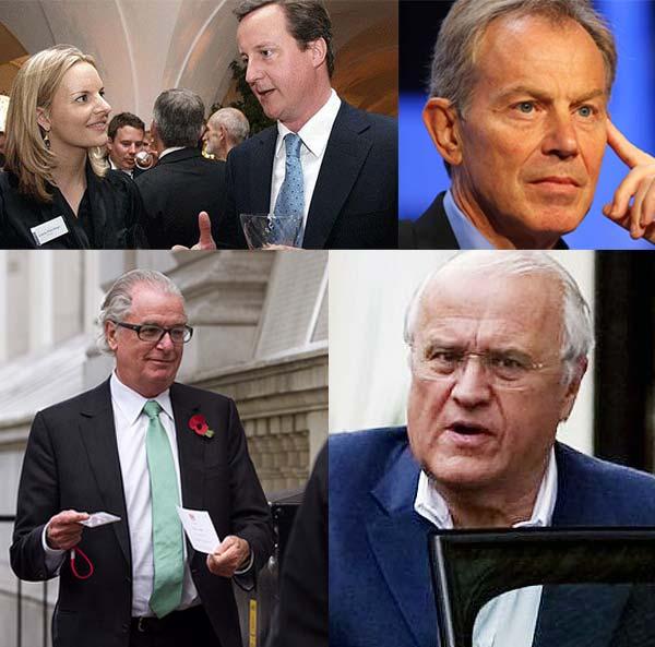تونی بلر، دیوید کامرون، لورا هاچیکنز، دیوید رولند، لرد تیموتی بل، در کمیته ای که به نام «کمیته محافظه کاران خاورمیانه» نامیده می شود عضویت دارند، ولی کارشان دلالی و زد و بست با کشورهای دیگر است. تا آن جا که بخش بزرگی از در آمد سوریه را به خود اختصاص داده اند.