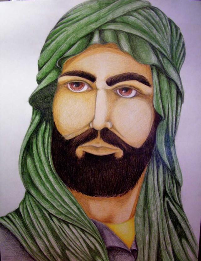 نقاشی کودکانه در مورد تولد امام رضا