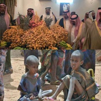 این ها مسلمانند که افطار خود را با خرما آغاز می کنند، تا شام برسد. حال، می توانید عظمت شام این شکمبارگان اسلامی را مجسم کنید. در کنار این مفتخوران بچه های گرسنه سودان دیده می شوند که هم اکنون و همه روزه صدها تن آنان می میرند.