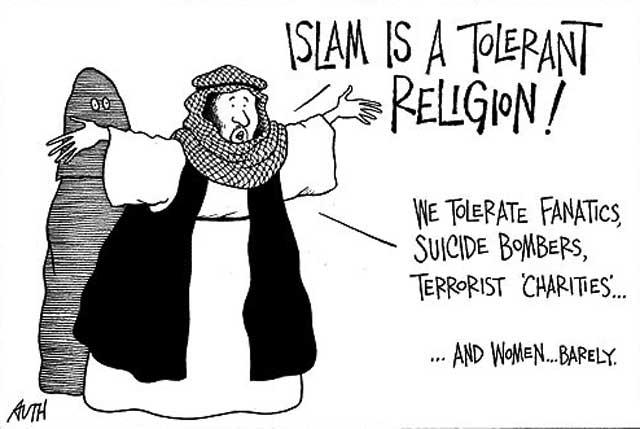 این اسلام است. این طرفداران خردباخته اسلامند که بدون آگاهی از محتویات قرآن، و این که چگونه محمدابن عبدالله با زیرکی و فرصت طلبی کلاهی گشاد سر جهانیان گذاشت و یک مشت لاطائلات را به مغز میلیون ها انسان ناآگاه و کم اندیش فرو کرد، بدان باور دارند و تعصب نیز به خرج می دهند.