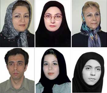 نرگس غفارزاده، رؤیا عراقی، مریم عظیمی، فروغ همت یار، سیده طیبه حسینی، و   محمد رضا صادقی از پشتیبانان بروجردی که دستگیر و تحت شکنجه و بدرفتاری رژیم قرار گرفته اند.