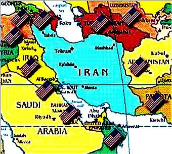 ایران در محاصره نیروهای آمریکا است. تازمانی که رژیم با اسرائیل  موش و گربه بازی کند و رژیم پنهانی منافع آمریکا و غرب را برآورده سازد، حمله نظامی صورت نمی گیرد. ولی چنانچه رژیم رشوه خوار و رشوه ده اسلامی از وظایف خود سر پیچی کند، ایران مورد یورش اسرائیل و آمریکا قرار خواهد گرفت.