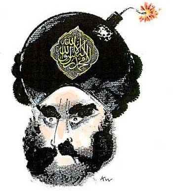 فرتور کارتون مشهور آقای کورت وسترگارد کاریکاتوریست نامی دانمارک را نشان می دهد که از سال ۲۰۰۶ تا کنون طعم زندگی عادی را نچشیده و همواره ترس از قتل و کشته شدن را در دل دارد. مسلمانان برای سر آقای وسترگارد ۱ میلیون دلار جایزه تعیین کرده اند، این است منطق و روش و مسلک مسلمانان جهان در شیوه برخورد با منتقدین.