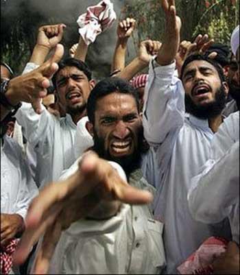 فرتور چهره راستین مسلمانان را نشان می دهد، یک مسلمان همواره نسبت به چیزی یا رخدادی اعتراض دارد و همیشه دهان های شان باز است و ذهن های شان بسته و بیمار. ایشان در اروپا و آمریکا زندگی های خوبی دارند ولی می خواهند که قوانین آن کشورها را با قوانین خشونت آمیز اسلام جایگزین کنند تا اروپا و آمریکا و دیگر کشورهای آزاد دنیا را چون عربستان، پر از تاریکی و جهل کنند.