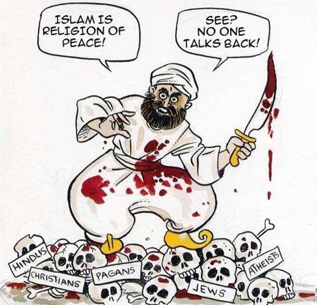 اسلام در حقیقت دین صلح و سکوت است. البته صلح نه به رضایت دو طرف، بلکه دستور دادن دکانداران دین، و ساکت شدن و پذیرفتن مردم. وقتی ما به دیگری «سلام» می گوییم، در واقع تسلیم بودن بی قید و شرط خود را ابراز می کنیم