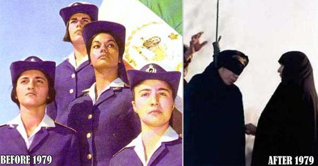 این دو فرتور چهره انسان ها را پیش از انقلاب و پس از انقلاب نشان می دهد. موسوی و یارانش می خواهند مردم را به دوران خمینی بازگردانند. آیا اینست انقلاب جوانان ایران؟.
