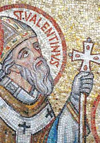 فر تور والنتاین مقدس بر دیوار کلیسای کاتولیک رم