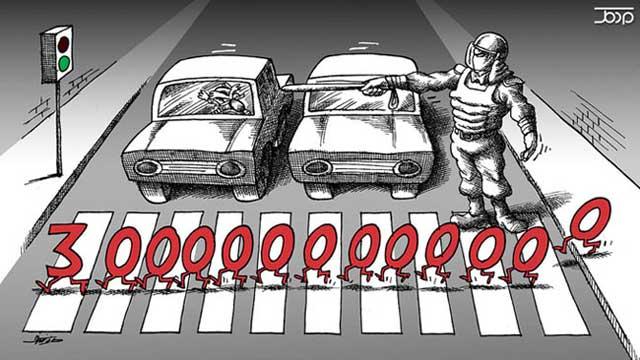 علی خامنه ای، رهبر خودکامه و مستبد ایران، به شدت تأکید کرد که رسانه ها ماجرای اختلاس ۳ هزار میلیارد تومانی را کش ندهند چرا که دزد شخص رهبر و اطرافیانش می باشند. ۳۳ سال است که سردمداران رژیم ضد انسانی در حال پر کردن جیب های خود و خالی کردن جیب های مردم می باشند.