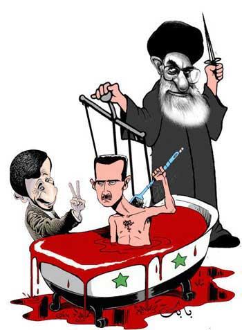 خامنه ای بسیجیان و سپاهیان مزدورش را به تجهیزات و اسلحه به سوریه می فرستد تا به بشار اسد برای سرکوب و کشتن معترضین شجاع کمک نماید. جان انسان ها نزد آخوند روضه خوان کمترین ارزشی نداشته و تنها قدرت، پول و مقام است که دارای اهمیت می باشند. رژیم اسلامی با دخالت در امور دیگر کشورها و به خصوص کشورهای همسایه، هم اکنون مورد نفرت عمیق کشورهای عربی همچون عربستان قرار گرفته است.