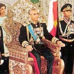 coronation of Shah Mohamed Reza Pahlavi 1967, seated in the Naderi Throne