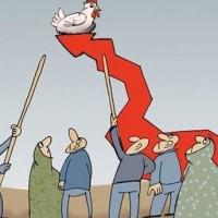 پاسخ سهمگینِ مردم ایران به گرانیِ کمر شکن: حفظ سکوت و آرامش در صف های خرید مُرغ!