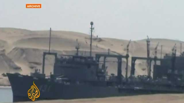 رژیم اسلامی به تازگی برای کشتار مردم سوریه دو کشتی جنگی به کمک بشار اسد جنایتکار فرستاده است