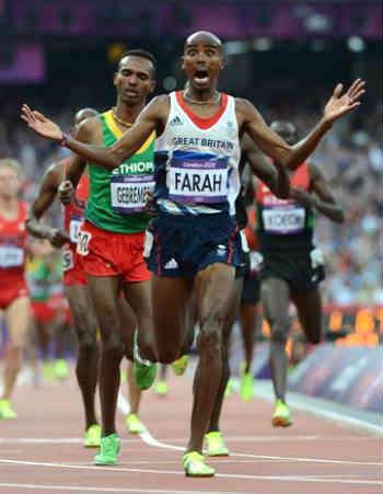 مو فرح، کودکی از سومالیا که تاکون مدال های زیادی برای انگلیس کسب نموده، و مورد احترام و افتخار دولت و مردم انگلیس است.