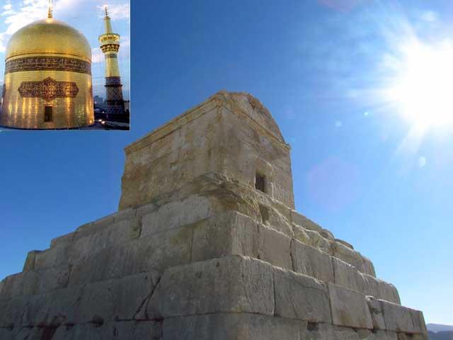 آرامگاه کوروش بزرگ، در پاسارگاد- پارس