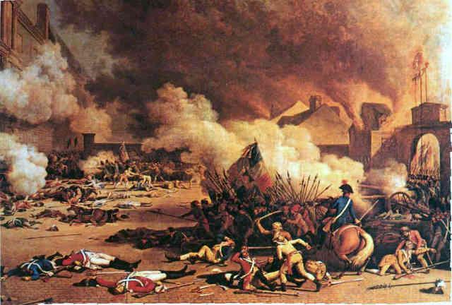 فرتور گوشه از انقلاب بزرگ فرانسه را نشان می دهد؛ انقلابی که به وسیله افکار روشنفکران بزرگ فرانسوی حمایت می شد و در مردم انقلابی فرهنگی - اخلاقی پدید آورده بود و ثمره اش فرانسه پیشرفته و مدرن و آزاد امروز است که مشاهده می کنیم.