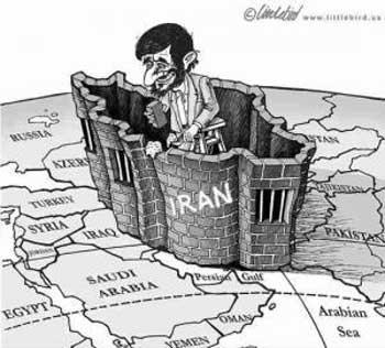 احمدی نژاد دیواری از انزوا و دور از مدنیت به دور ایران کشیده است.