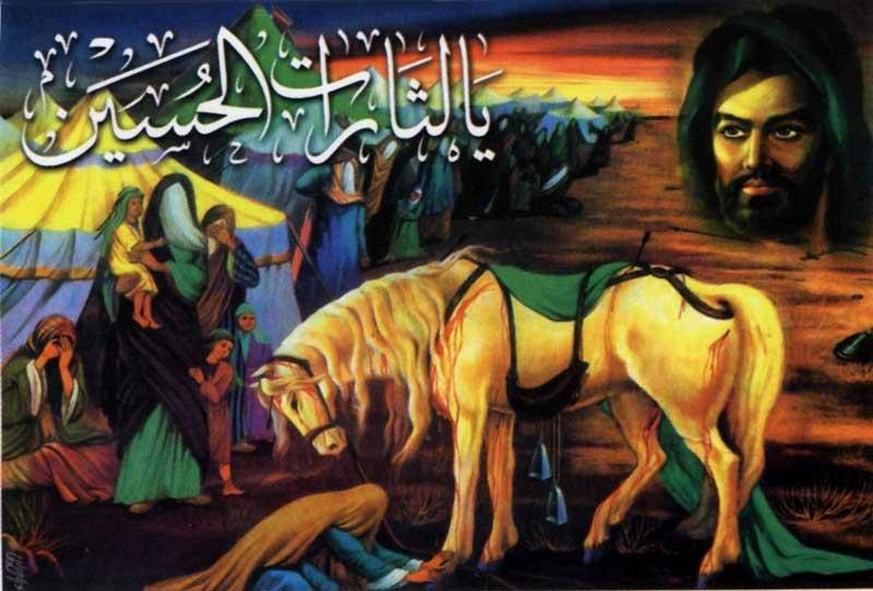 این فرتور مسخره گویای لشکر کشی حسین با خانواده اش در برابر یزید است. نخست؛ بردن زنان، کودکان، و افراد خانواده در جنگ کار احمقانه ای است. دیگر این که اختلاف حسین و یزید بر سر زنی به نام ارینب و همچنین طمع خامی حسین برای دست یافتن به قدرت بوده است. وانگهی، اینها تازیان بودند و نمی توانند سمبل و قهرمان ما به شمار آیند. قهرمانان ما کسانی هستند که در راه آزادی و سر بلندی ایران جان خود را فدا کردند، نه تازیان آدم کش.