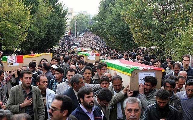رژیم جهنمی و ضد بشری با فرستادن دختران میهنمان به کام مرگ، شهر و استانی را به عزا و سوگواری نشاند.