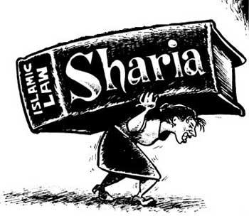 قانون ارتجاعی و ضد انسانی شریعه بر گرده مردم سنگینی می کند و کمر آنان را خم نموده است.