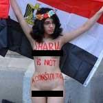 لخت شدن دیگر بارعلیا ماجده المهدی در اعتراض به قوانین ارتجاعی اسلام