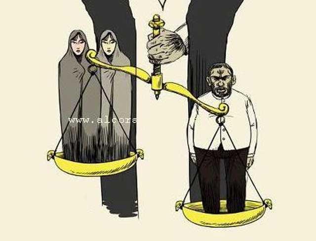 در اسلام در قضاوت و دادگری زن نیمی از مرد به شمار می آید. در دیگر کارهای زندگی، زن ارزشی ندارد و بهای او مانند یک کمد، یخچال، و یا مبل و صندلی است که میان زنبارگان به عنوان زن دوم تا چهارم یا صیغه خرید و فروش می شود.