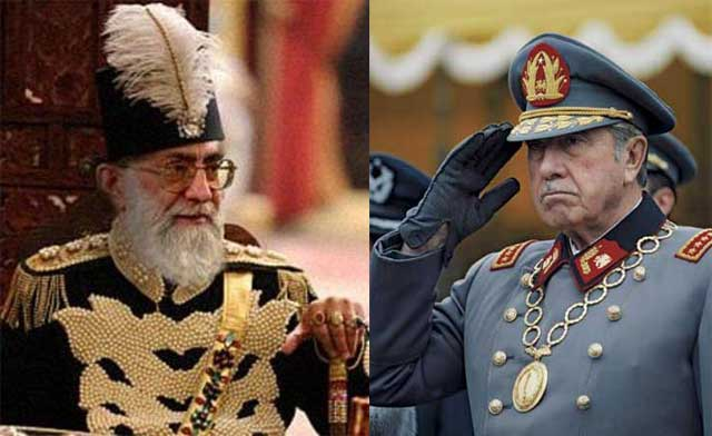 دیکتاتور، دیکتاتور است. خواه رئیس جمهور دیکتاتور مانند پینوشه در شیلی، ولی فقیه مانند ایران، و یا شاه مستبد دیکتاتور که ما در طول تاریخ آنان را تجربه کرده ایم. خیلی انسانیت، گذشت، فداکاری، میهن دوستی نیاز است که فرد در مقام خود چه شاه، یا رییس جمهور، و یا رییس مدهبی، مردمی، و آزادی خواه باشد.